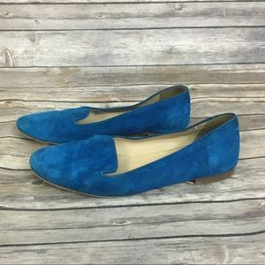 J. Crew Blue Suede Loafers